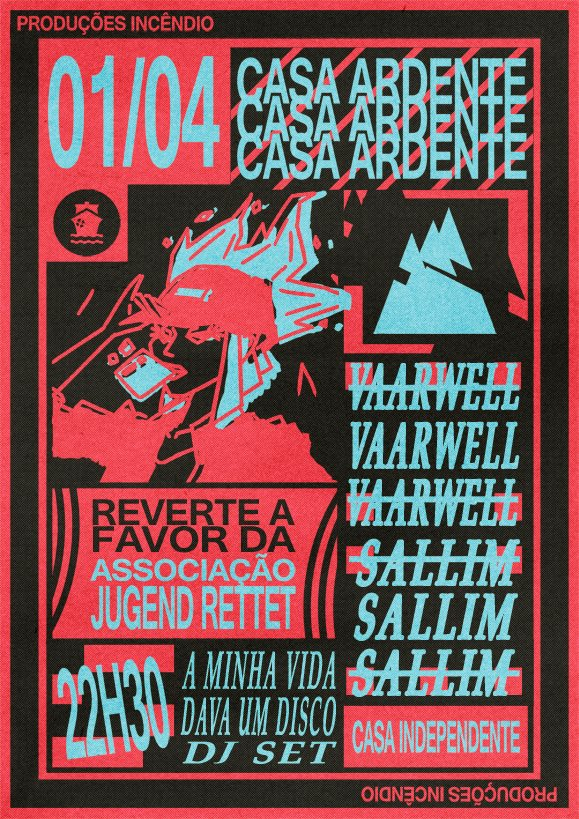cartaz casa ardente